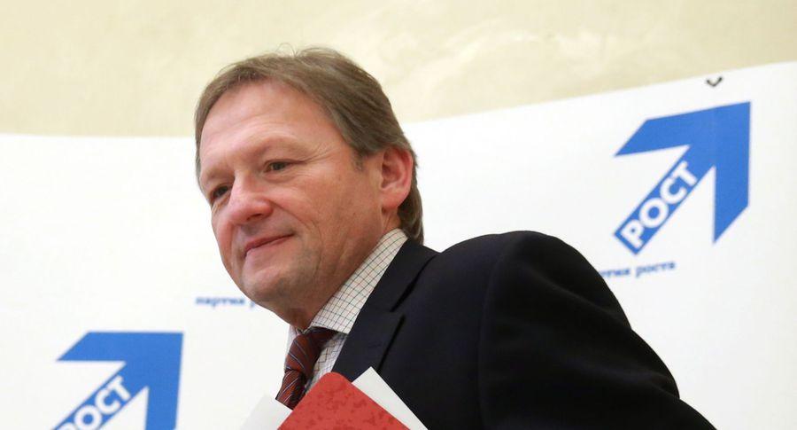 «Партия роста» выдвинет навыборах кначалу весны кандидатуру бизнес-омбудсмена Титова