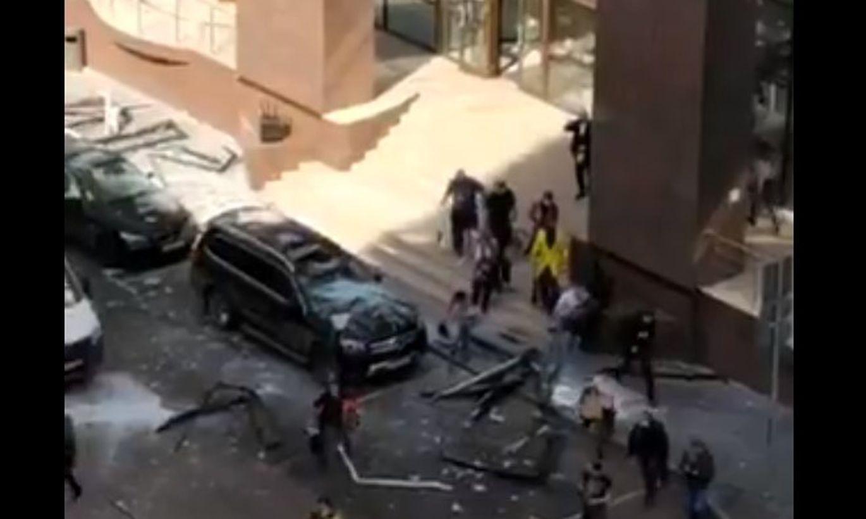 В бизнес-центре у посольства Словакии в Москве произошел взрыв (ВИДЕО)