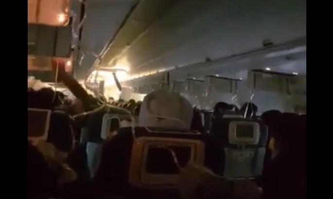 Из-за падения давления всамолете пострадали 30 пассажиров