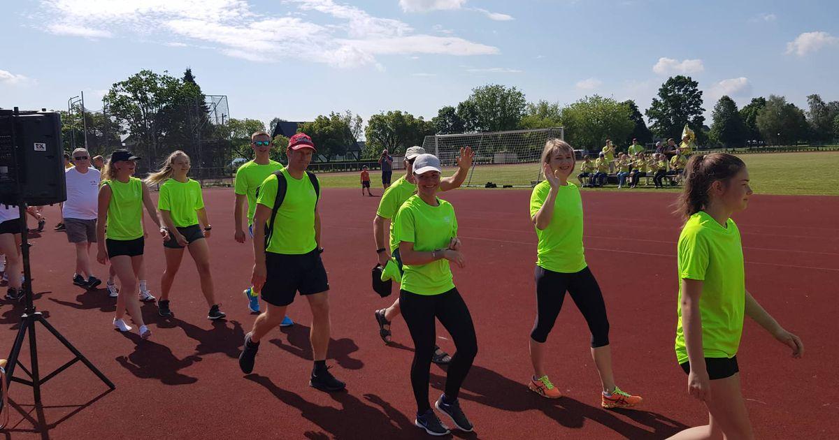 Spordirahvas lustis suvemängudel