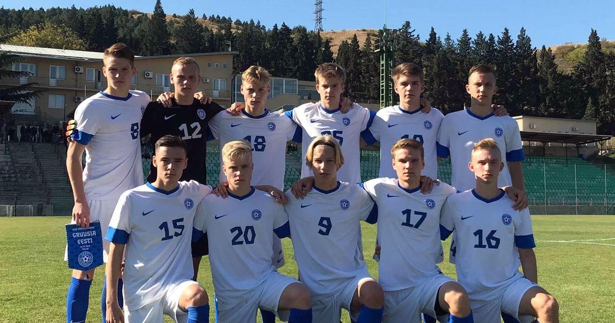 U18 jalgpallikoondis tunnistas võõrsil Gruusia paremust