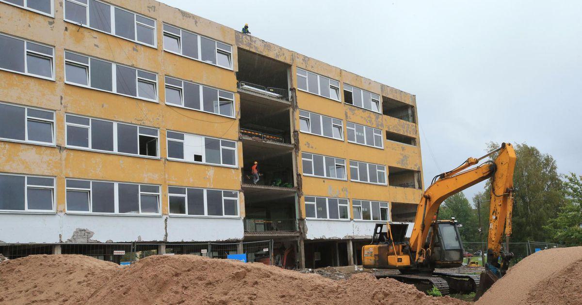 Annelinna gümnaasiumis käivad ehitustööd linna võetud laenu toel