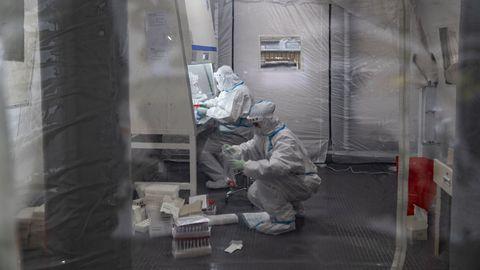 Covid-19 testimise labor Hiinas.