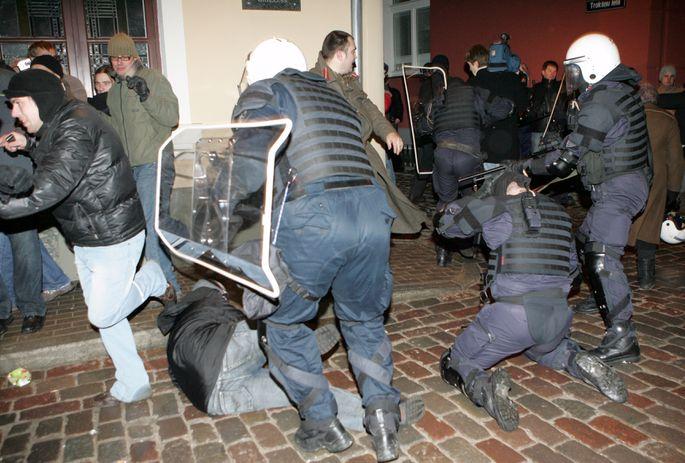 Беспорядки в Вецриге 13 января 2009 года