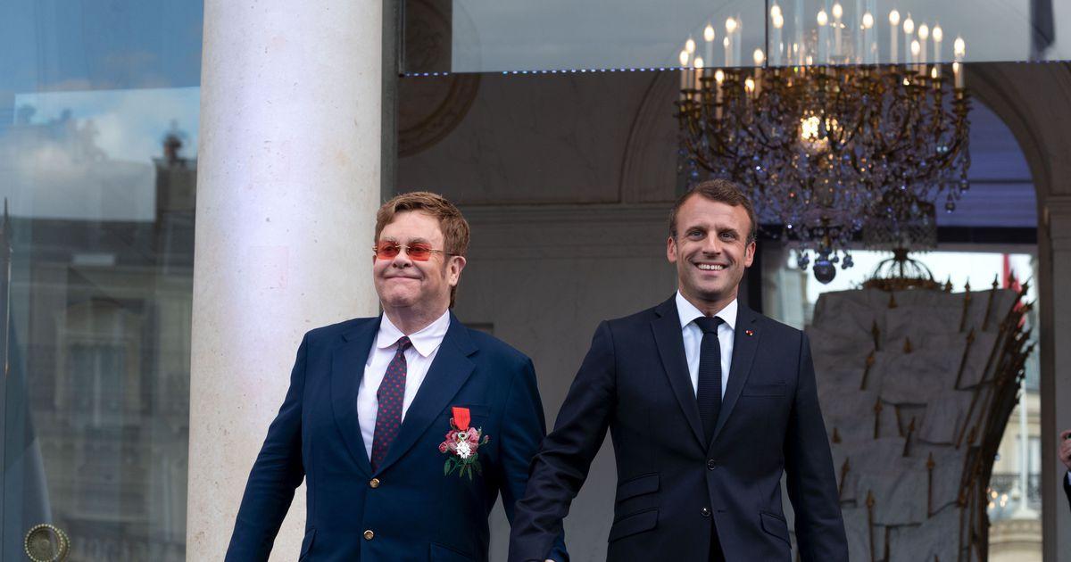 557809cc347 Prantsusmaa president Emmanuel Macron andis Elton Johnile riigi kõrgeima  autasu
