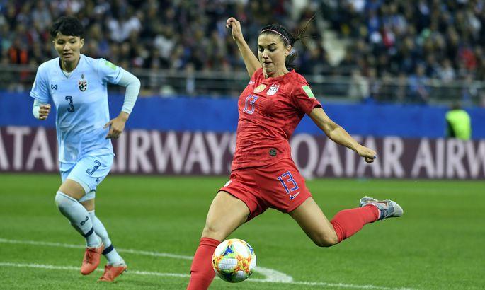 f2e0679c810 Ameeriklanna Alex Morgan lõi Prantsusmaal toimuval naiste jalgpalli MM-il  Tai vastu viis väravat.