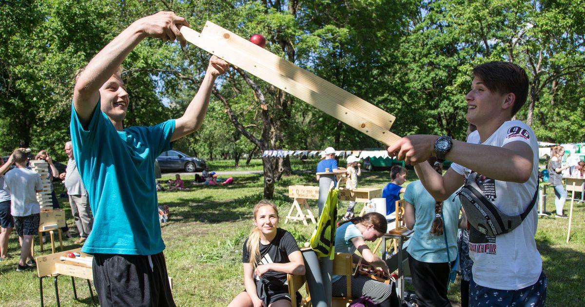 Suvekuum Kiviõli õunapuupark täitus laste ja tegevustega