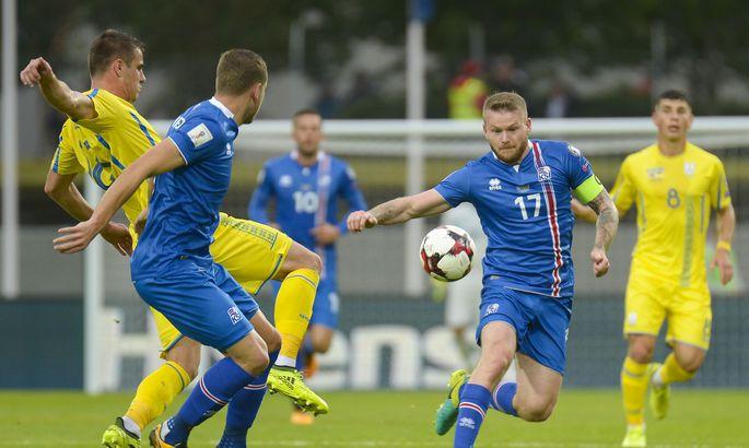 42fa7ac0046 Island - Ukraina. FOTO: HARALDUR GUDJONSSON/AFP. Jalgpalli  maailmameistrivõistluste Euroopa valikturniiril ...