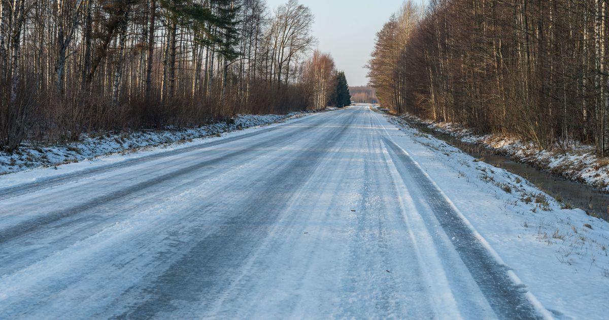 Öised miinuskraadid muudavad teed kohati jäiseks