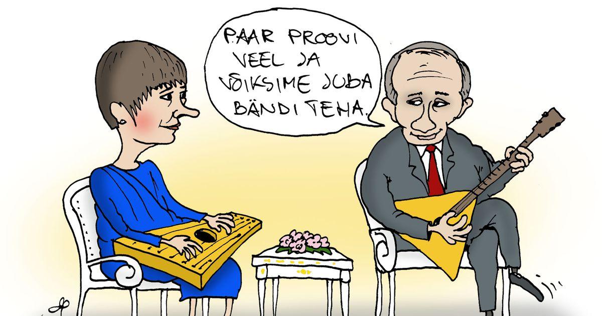 Päeva karikatuur: Kersti Kaljulaid käis Moskvas Vladimir Putiniga kohtumas