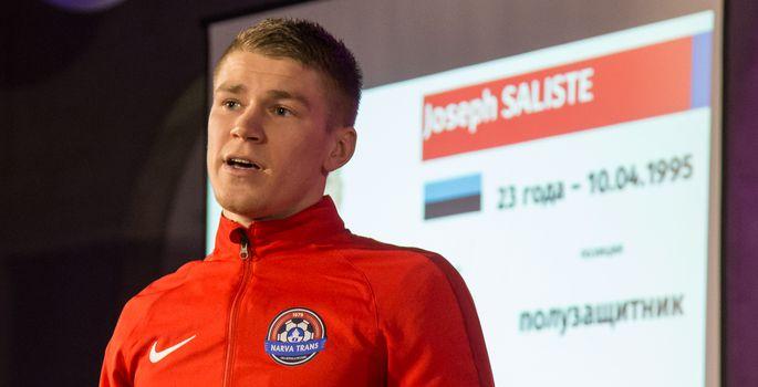 491ad2df077 ... teeneid otsustava viigivärava löönud Joseph Salistel, kes on tänavuseks  hooajaks Flora poolt Narvale välja renditud. | FOTO: Matti Kämärä /  Põhjarannik