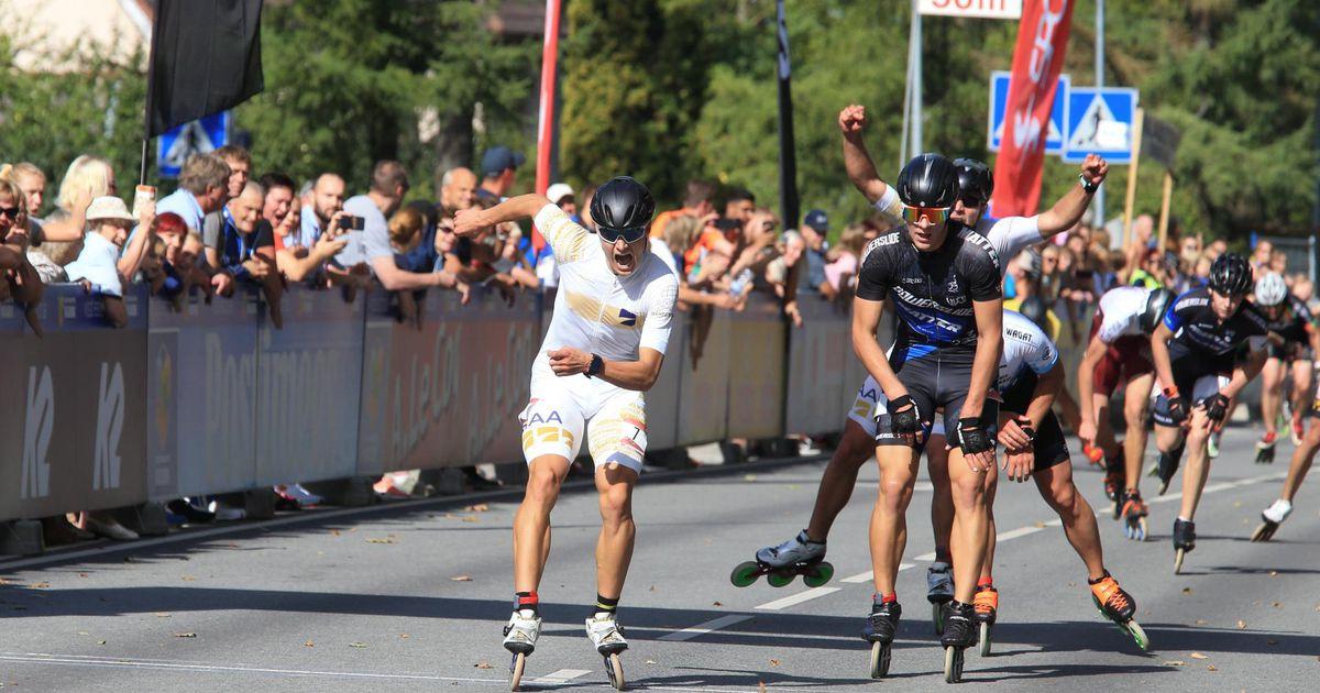 Fotod: vinge lõpuspurt tõi kiiruisutaja Marten Liivale rulluisumaratonil esikoha