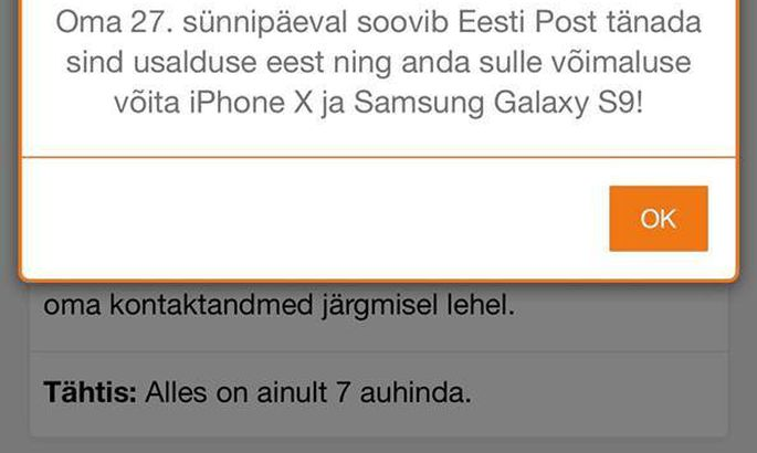 88e8a455291 Hoiatus! Liikvel on Omniva/Eesti Posti libakampaania - Kaup ja ...