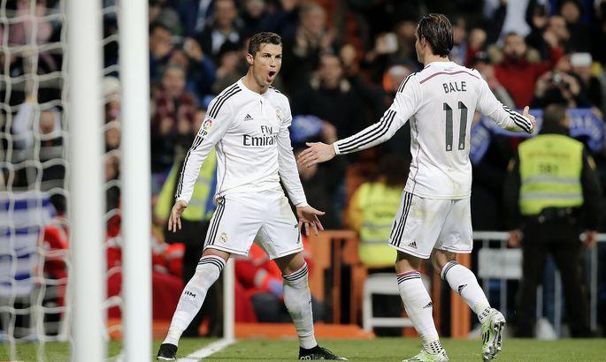 97b7e97ef9d Madridi Reali tähtmängijad Cristiano Ronaldo (vasakul) ja Gareth Bale on  klubi täna edukalt vedanud.