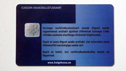 Euroopa ravikindlustuskaart.